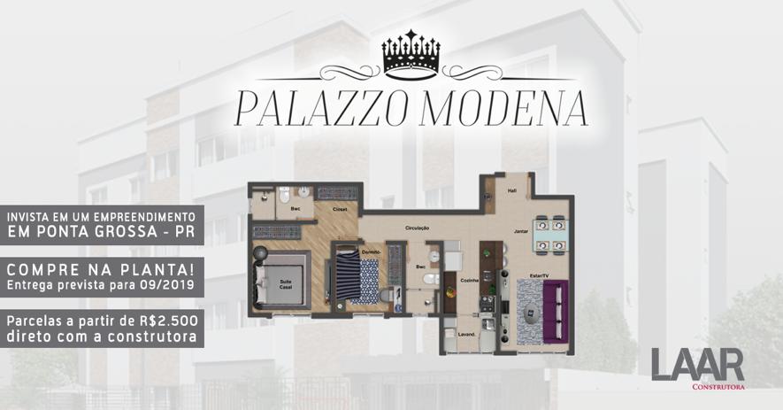 Conheça o Palazzo Modena e compre na planta em Ponta Grossa