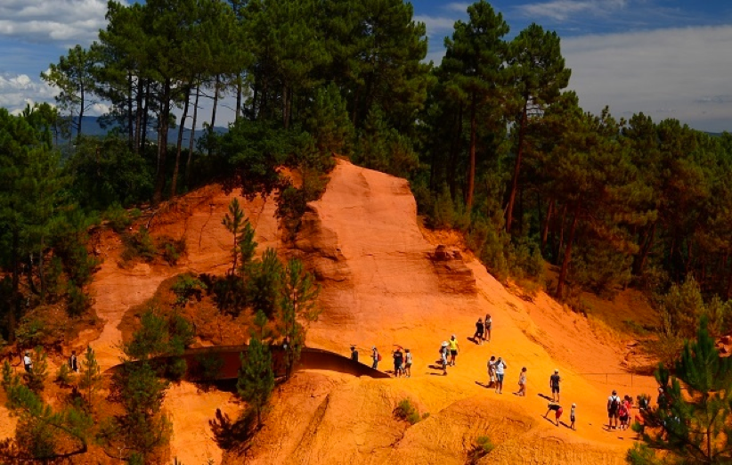 Sentier des Ocres na França